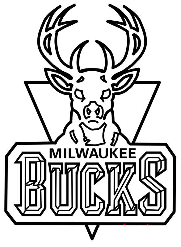 Learn easy to draw milwaukee bucks step 16