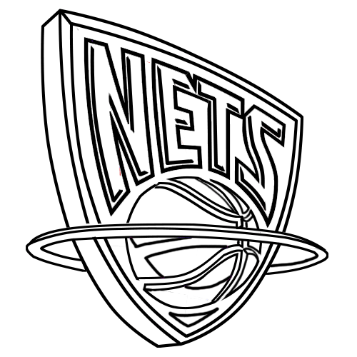 Learn easy to draw new jersey nets step 12
