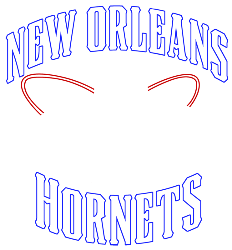Learn easy to draw new orleans hornets step 06