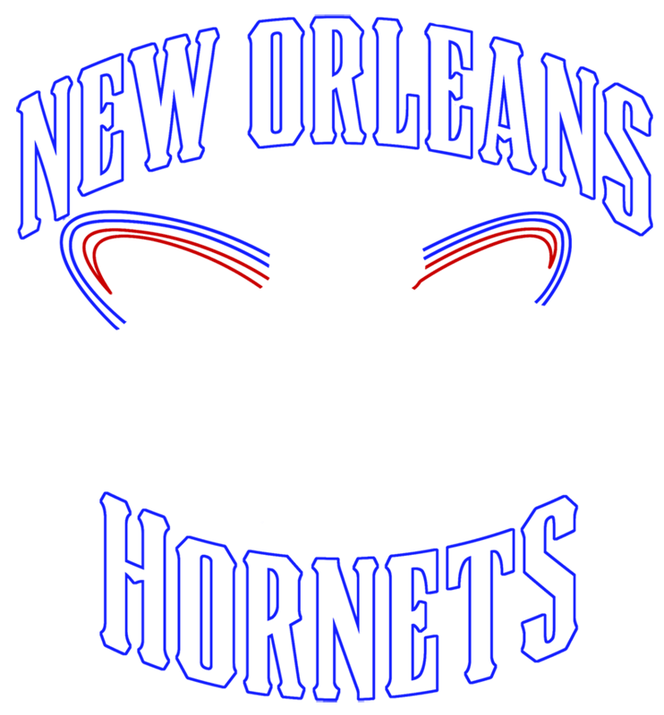 Learn easy to draw new orleans hornets step 07