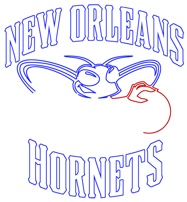 Learn easy to draw new orleans hornets step 09