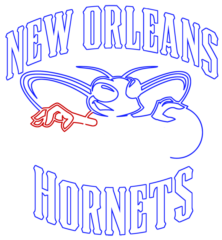 Learn easy to draw new orleans hornets step 10