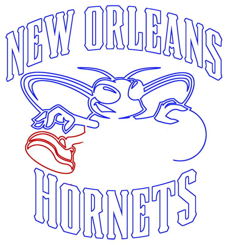 Learn easy to draw new orleans hornets step 11