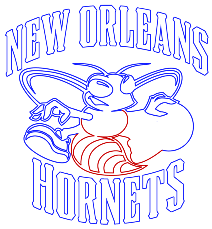 Learn easy to draw new orleans hornets step 12