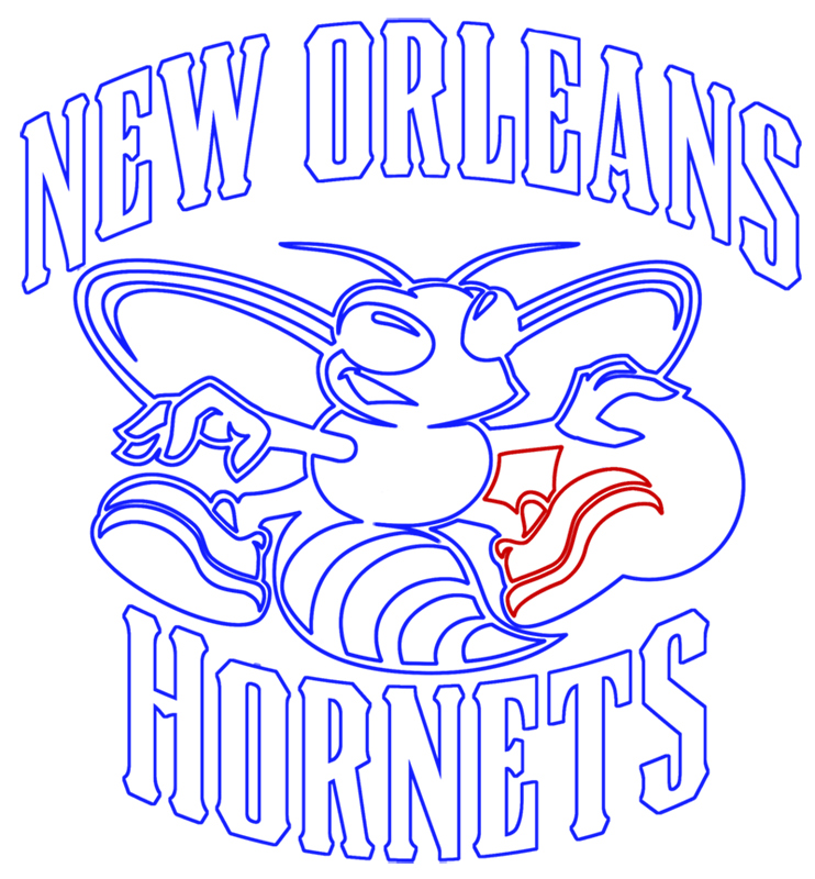 Learn easy to draw new orleans hornets step 13