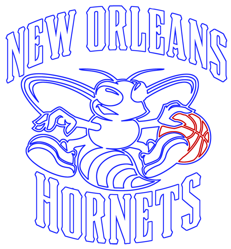 Learn easy to draw new orleans hornets step 14