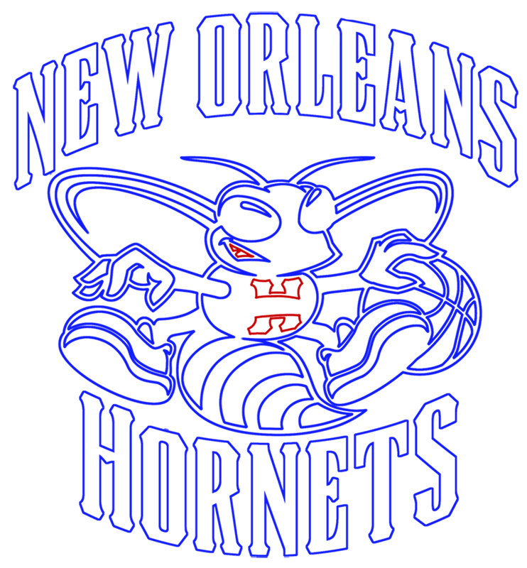 Learn easy to draw new orleans hornets step 15