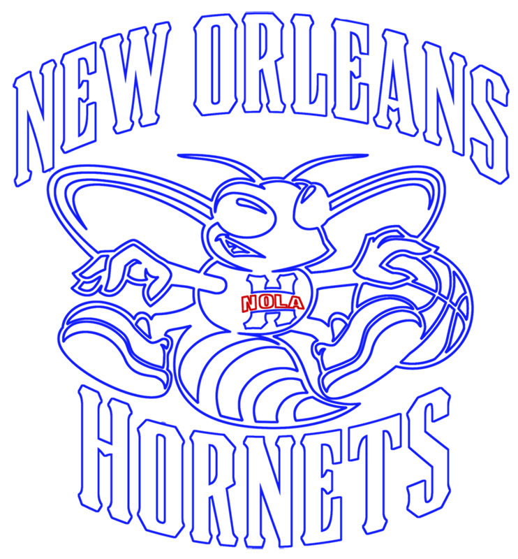 Learn easy to draw new orleans hornets step 16
