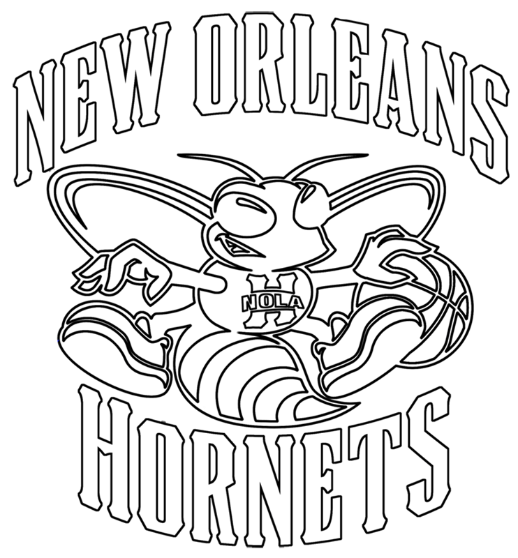 Learn easy to draw new orleans hornets step 17