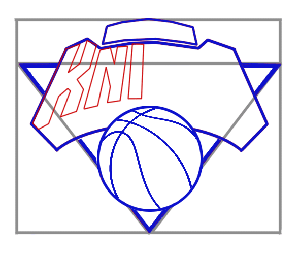 Learn easy to draw new york knicks step 05