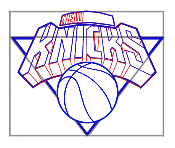 Learn easy to draw new york knicks step 06
