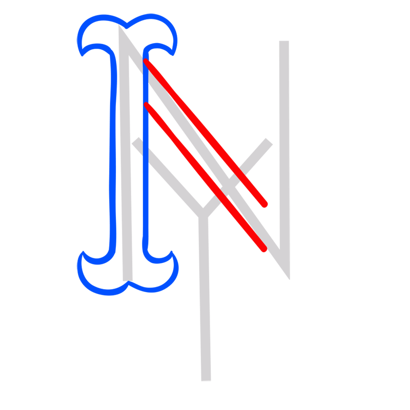 Learn easy to draw new york mets step 03