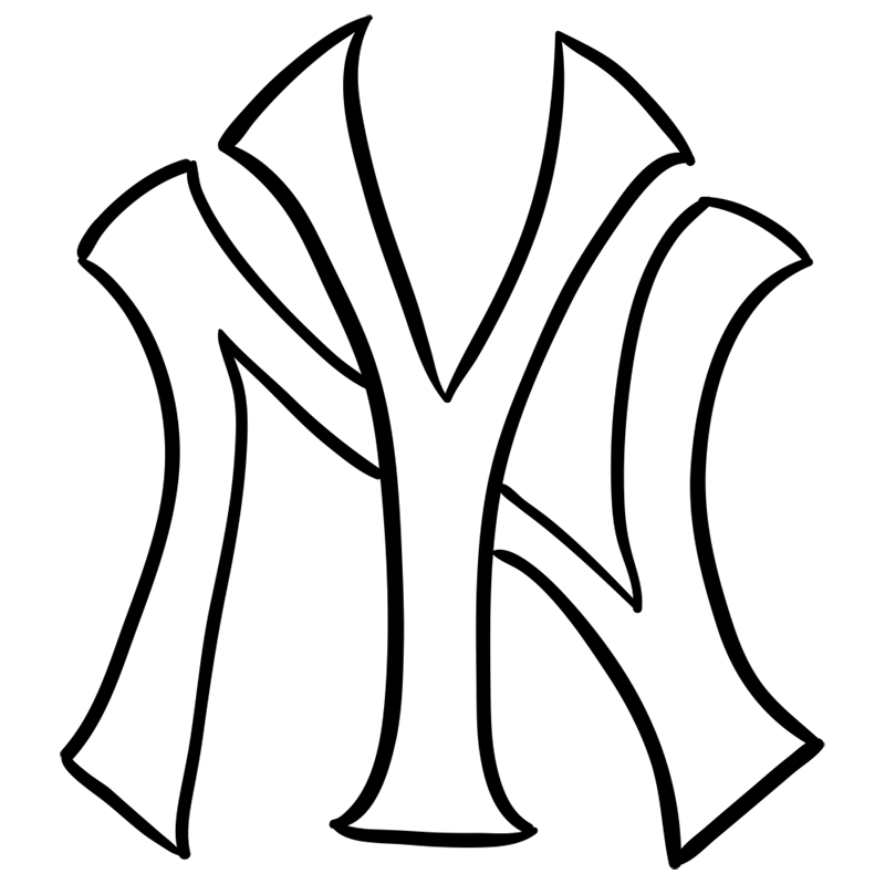 Learn easy to draw new york yankees step 06