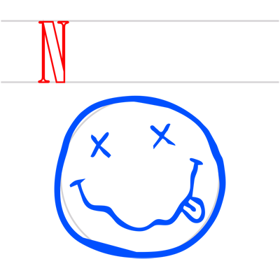 Learn easy to draw nirvana step 05