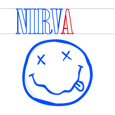 Learn easy to draw nirvana step 09