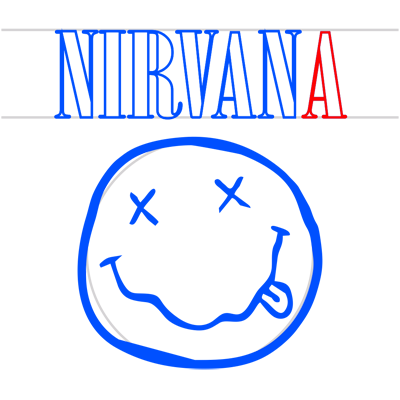 Learn easy to draw nirvana step 11