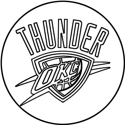 Learn easy to draw oklahoma city thunder step 00