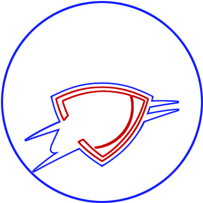 Learn easy to draw oklahoma city thunder step 04