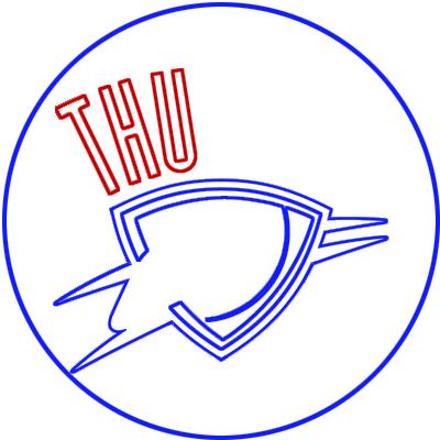 Learn easy to draw oklahoma city thunder step 05
