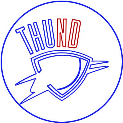 Learn easy to draw oklahoma city thunder step 06