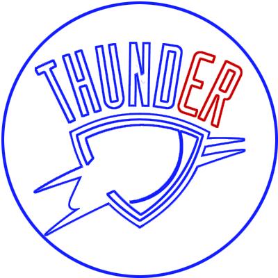 Learn easy to draw oklahoma city thunder step 07