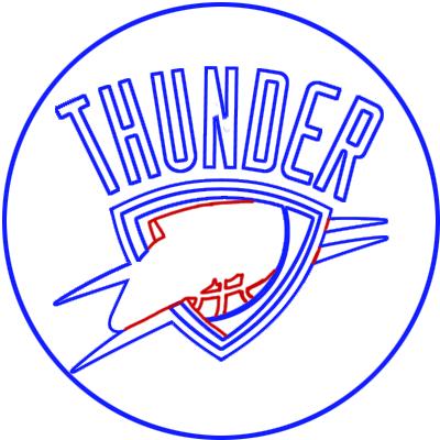 Learn easy to draw oklahoma city thunder step 08