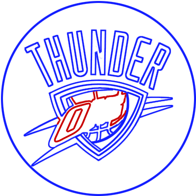 Learn easy to draw oklahoma city thunder step 09