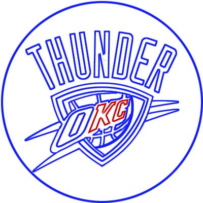 Learn easy to draw oklahoma city thunder step 10