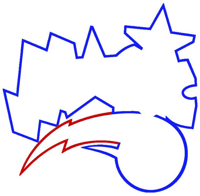 Learn easy to draw orlando magic step 04