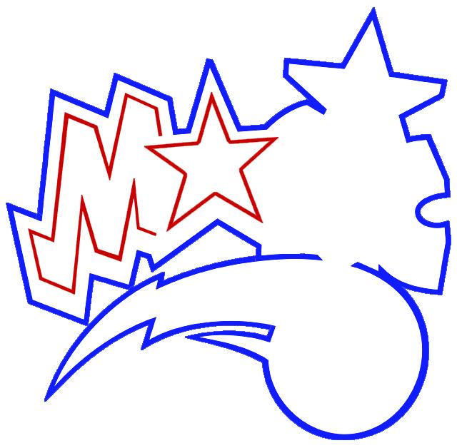 Learn easy to draw orlando magic step 05