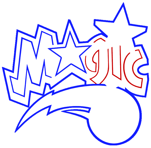 Learn easy to draw orlando magic step 06