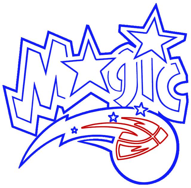 Learn easy to draw orlando magic step 08