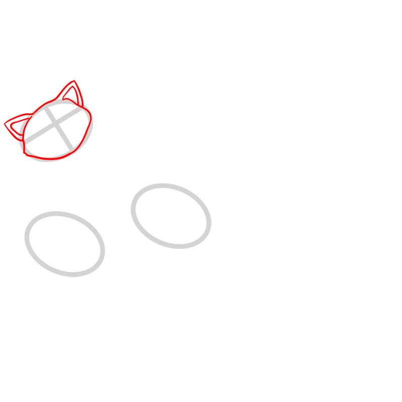 Learn easy to draw pabu step 02
