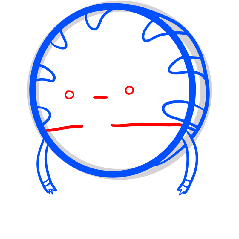 Learn easy to draw peppermint butler step 05