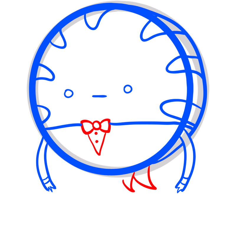 Learn easy to draw peppermint butler step 06
