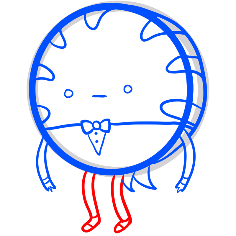 Learn easy to draw peppermint butler step 07