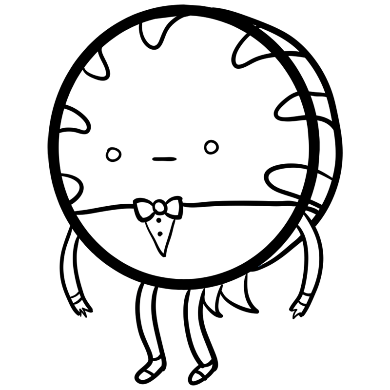 Learn easy to draw peppermint butler step 08