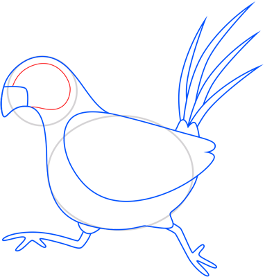 Learn easy to draw pheasant step 08