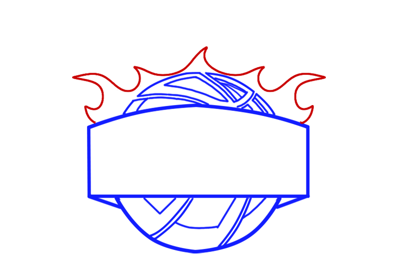 Learn easy to draw phoenix suns step 05