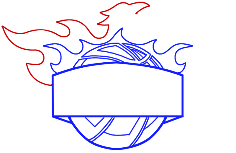 Learn easy to draw phoenix suns step 06