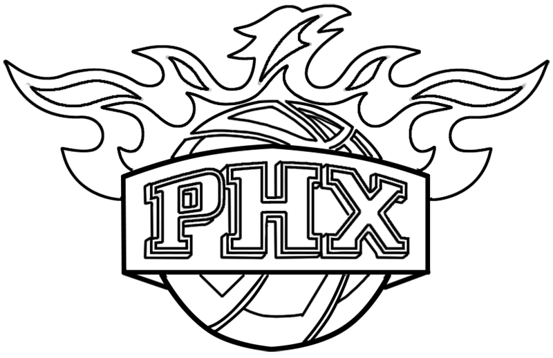 Learn easy to draw phoenix suns step 13