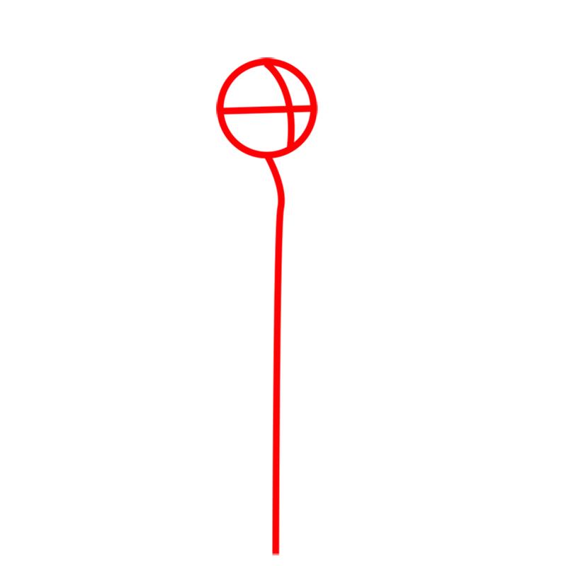Learn easy to draw princess bubblegum step 01