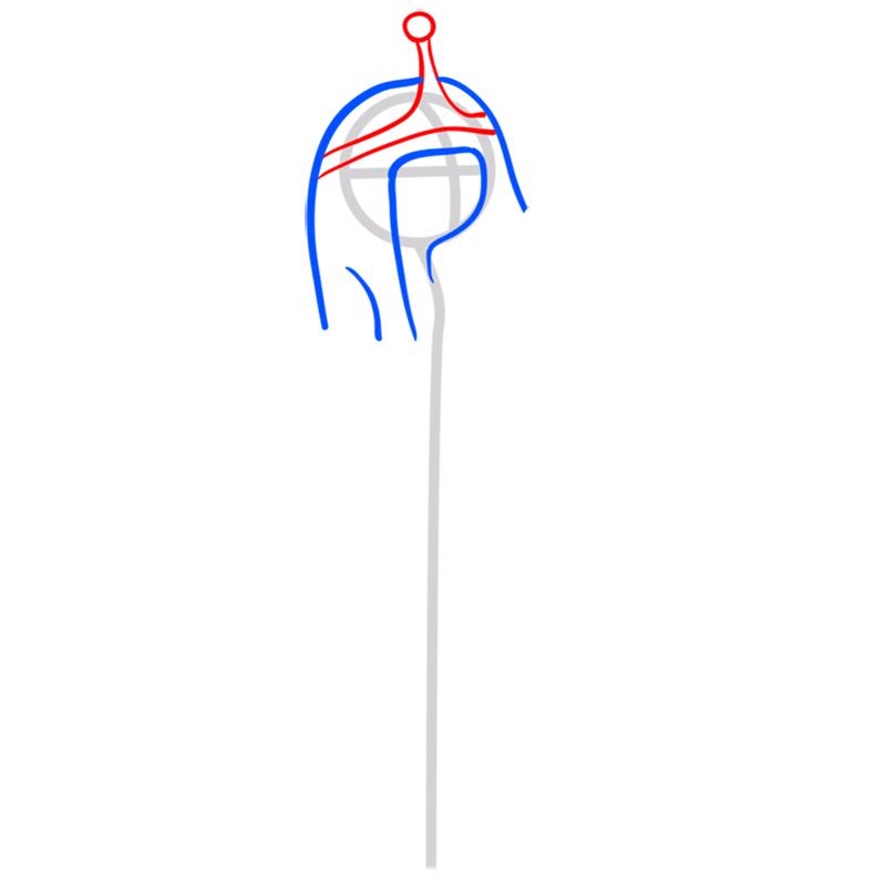 Learn easy to draw princess bubblegum step 04