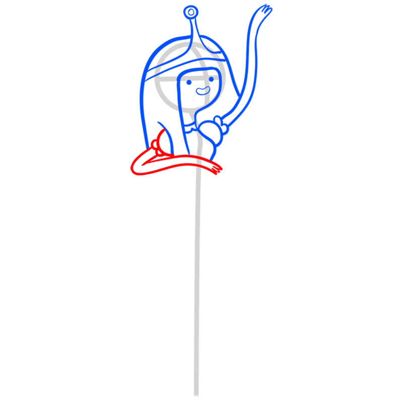 Learn easy to draw princess bubblegum step 07