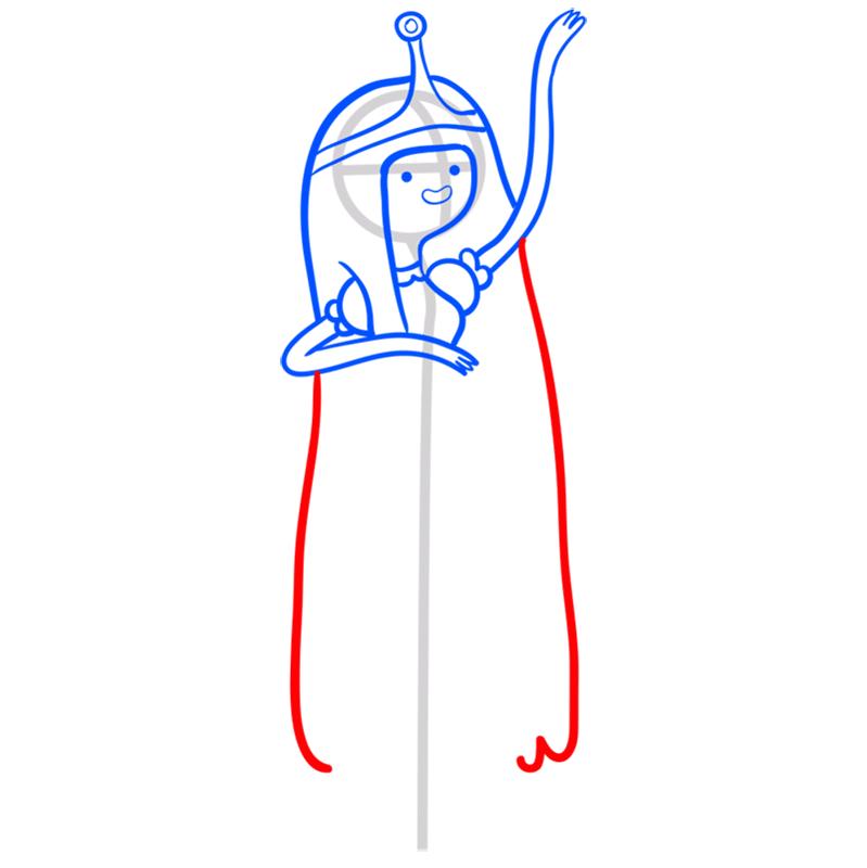 Learn easy to draw princess bubblegum step 08