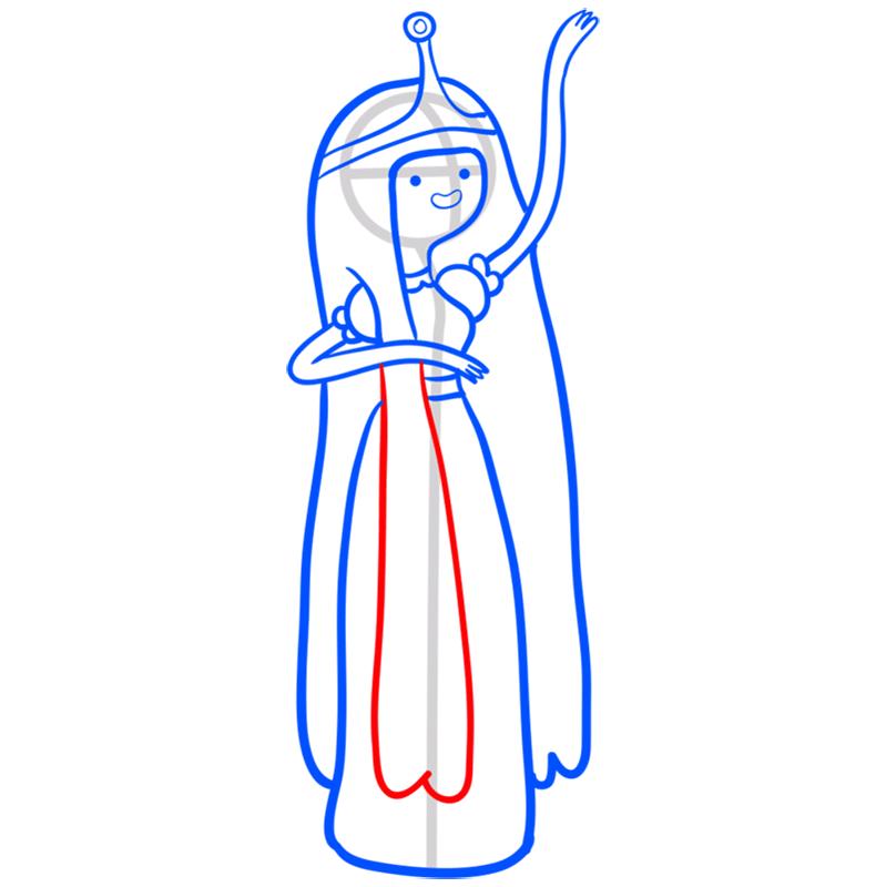 Learn easy to draw princess bubblegum step 10