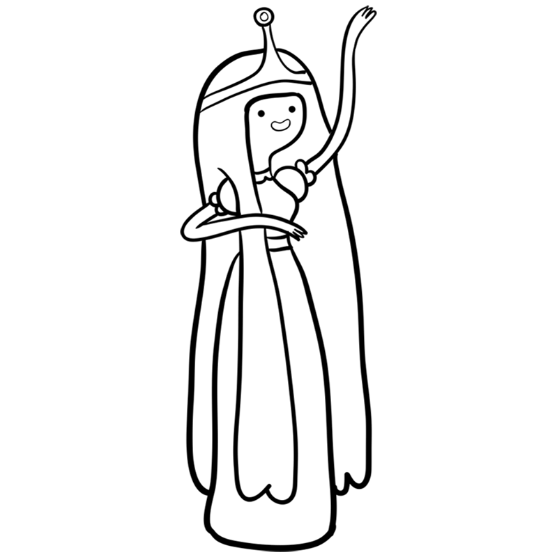 Learn easy to draw princess bubblegum step 11