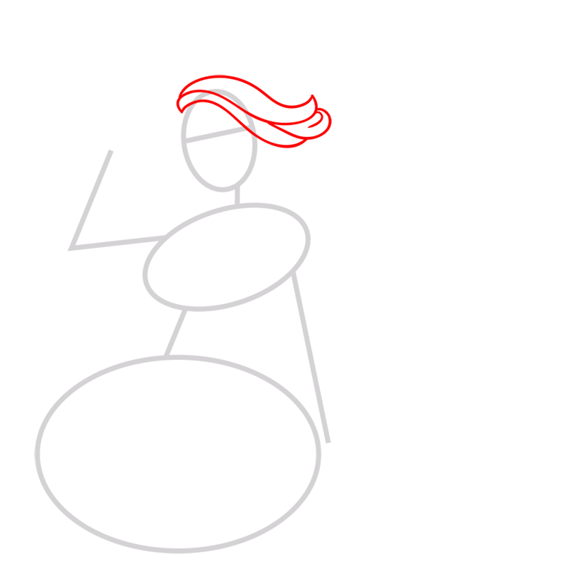 Learn easy to draw princess courtney step 02