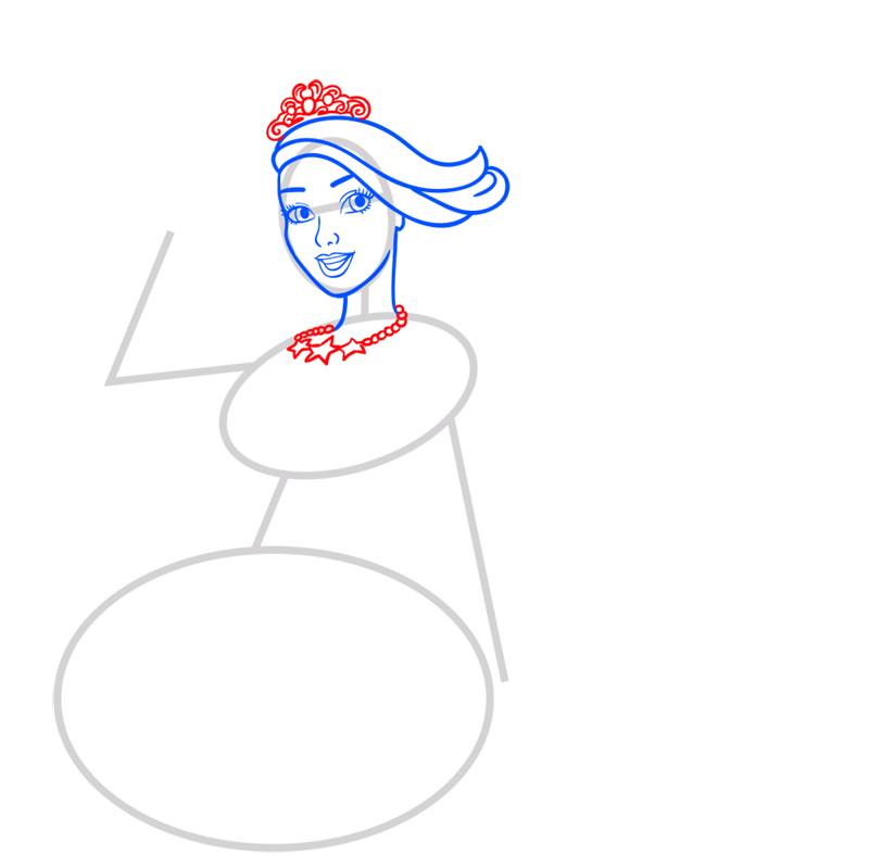 Learn easy to draw princess courtney step 05