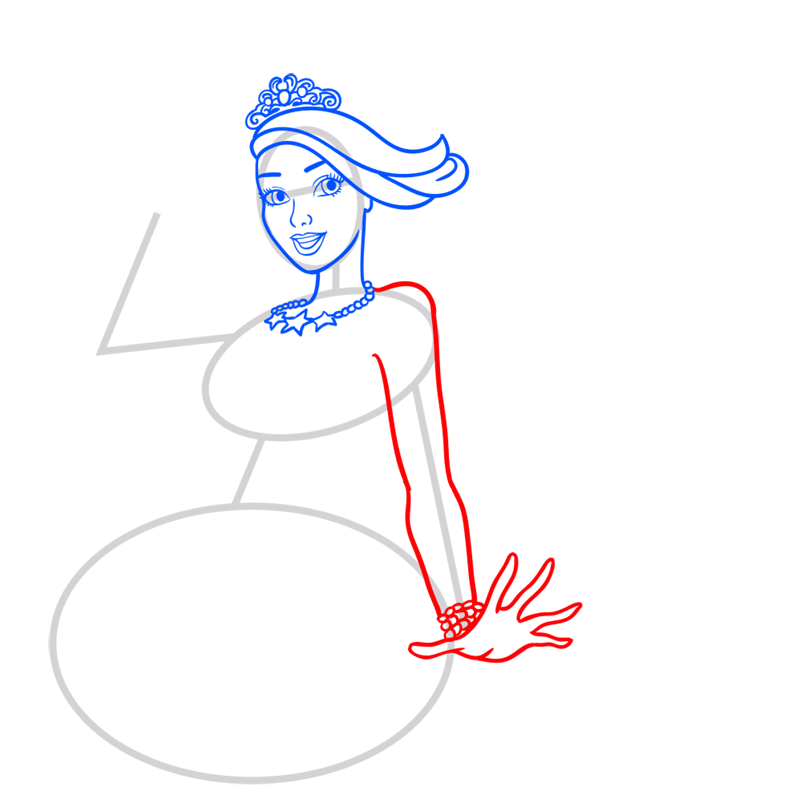Learn easy to draw princess courtney step 06
